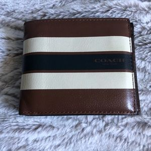 Men's Coach Billfold Leather Wallet